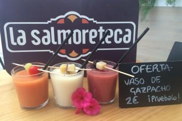 Gazpacho tradicional, ajo blanco y gazpacho de frutos rojos