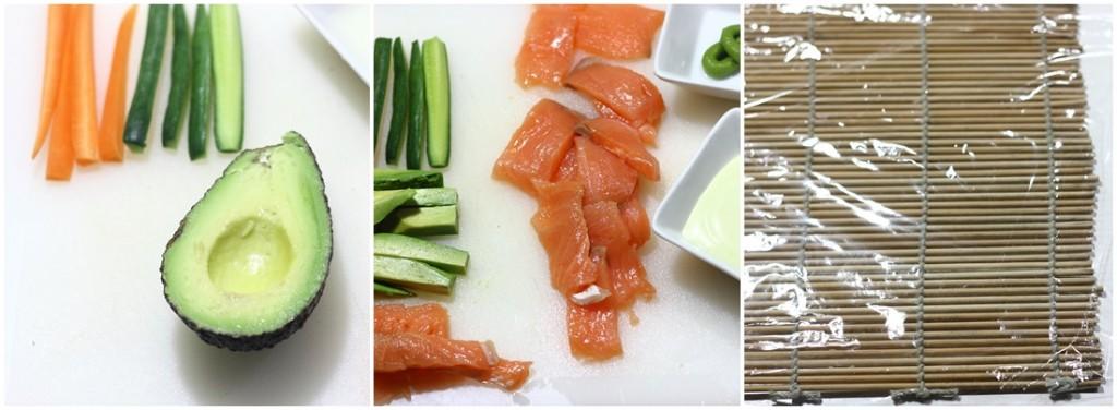 ingredientes para preparar sushi